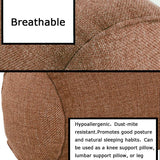 Car Round Neck Pillow Neck Hypoallergenic Dust-mite Resistant Zipper with Washable Organic Cotton Cover Hypoallergenic Pillow Provides Best Support for Sleeping (Coffee)