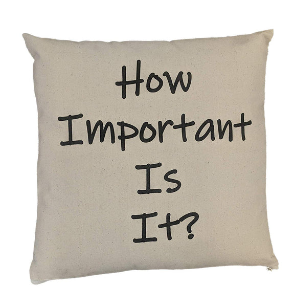 "ItSoMe | How Important is It? | 16"" x 16"" Canvas Pillow Cover 
