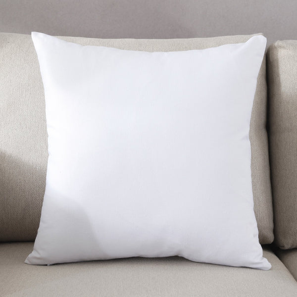 "TAOSON Decorative 100% Cotton Canvas Square Solid Toss Pillowcase Cushion Cover Pillow Case with Hidden Zipper Closure Only Cover No Insert - White 18""x18""(45x45cm)"