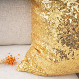 "YOUR SMILE Pack of 2, New Luxury Series Gold Decorative Glitzy Sequin & Comfy Satin Solid Throw Pillow Cover Cushion Case for Wedding/Christmas,12"" x 20"""