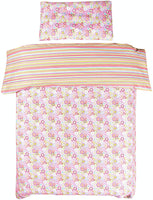 MEJU Flower Bloom 100% Cotton Duvet Cover + Pillowcase Bedding Set with Zipper Closure for Baby Toddler Girls Standard Crib Bed Decoration Gift (flower2)
