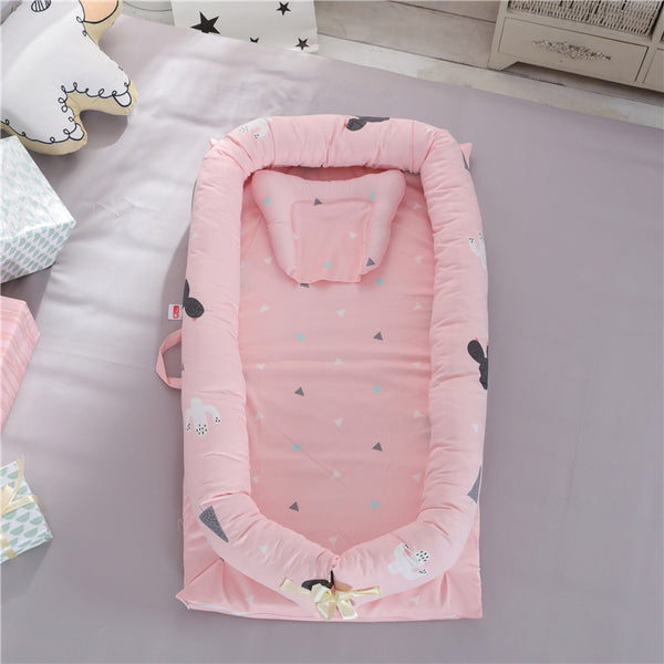 Infant Toddler Cradle Cot Newborn Nursery Infant Nest Baby Bed For Baby Care 16 color Portable Baby Crib With Pillow