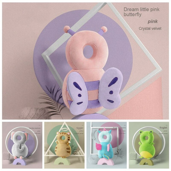 1-3T Toddler Baby Head Protector Safety Pad Cushion Back Prevent Injured Unicorn Bee Cartoon Security Pillows