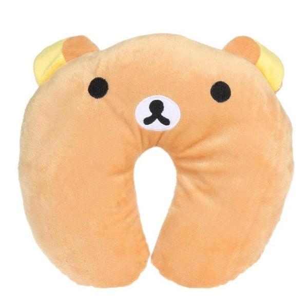 U Shaped Pillow Kawai Cartoon Animals Comfortable Cushion For Car Plane Travel Neck Pillow Baby Accessory Cute KId&Adult Pillow