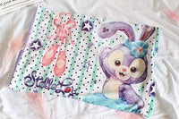 1pc 62cm soft cartoon DUFFY bear ballet rabbit Shirley plush pillow case cover lady romantic gift baby sleepy girl toy