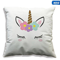 45x45cm Unicorn Pillow Case Unicorn Party Supplies Cotton Linen Cushion Cover Sofa Baby Shower Children Birthday Gift
