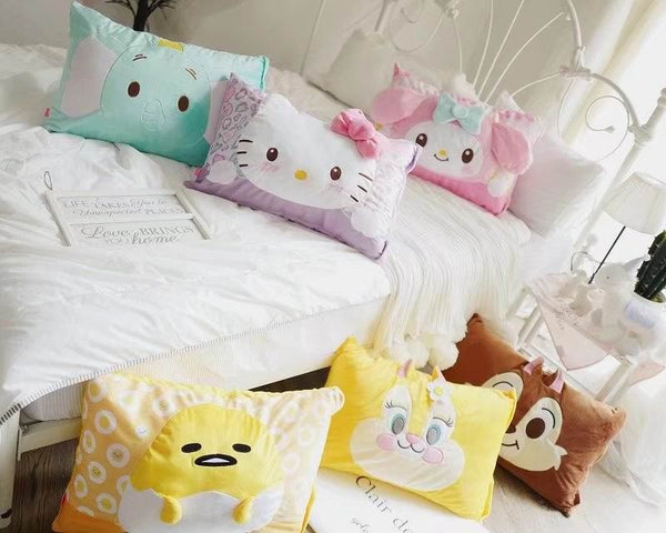 1pc 60cm cartoon My Melody chipmunk lazy egg elephant plush pillow case cover lady romantic gift baby dream sleep girl toy