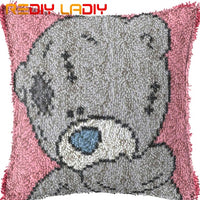 DIY Latch Hook Cushion Wolf Baby Pre-Printed Canvas Cushion Cover Acrylic Yarn Crochet Pillow Case Set Hobby & Crafts Home Decor