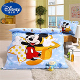 Disney Newest Cartoon Sophia Mickey Minnie McQueen Car Bedding Set Crib 3 Pieces Covered Sheet Pillow Case Crib Boy Girl 0.6 Bed
