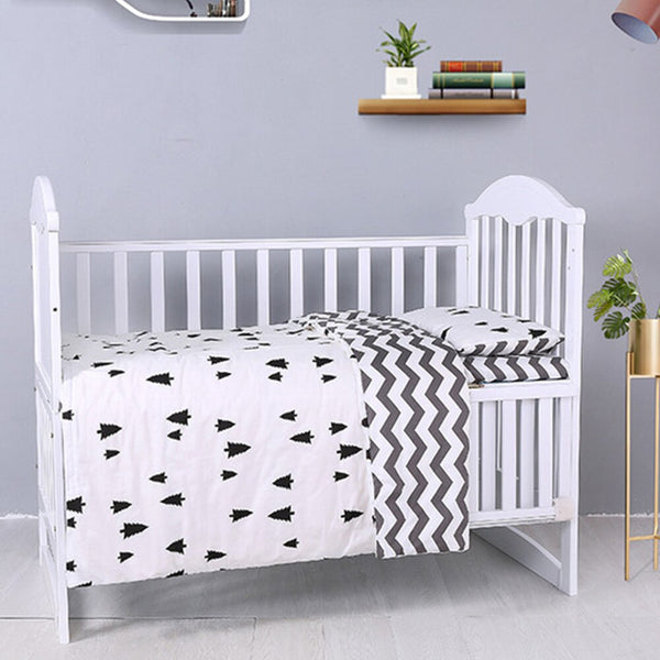 3Pcs Baby Bedding Set Bedclothes With Pillowcase Pillow Case Duvet Cover Sets Bed Cotton Crib Skin Care Bedclothes