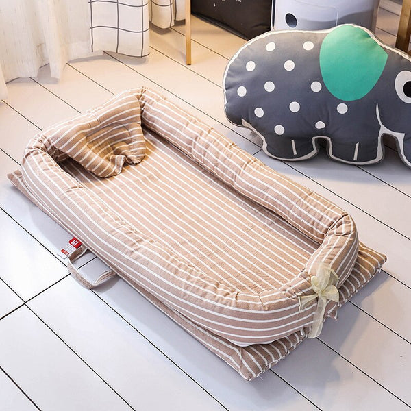 Portable Baby Crib Infant Toddler Cradle Cot With Pillow For Newborn Bed Nursery Travel Folding Baby Nest Baby Bed For Baby Care