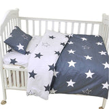 Muslinlife 3pcs/set Ins crib bed linen,baby Beddingset(pillow case+bed sheet+duvet cover without filling) Size Within 130*70cm
