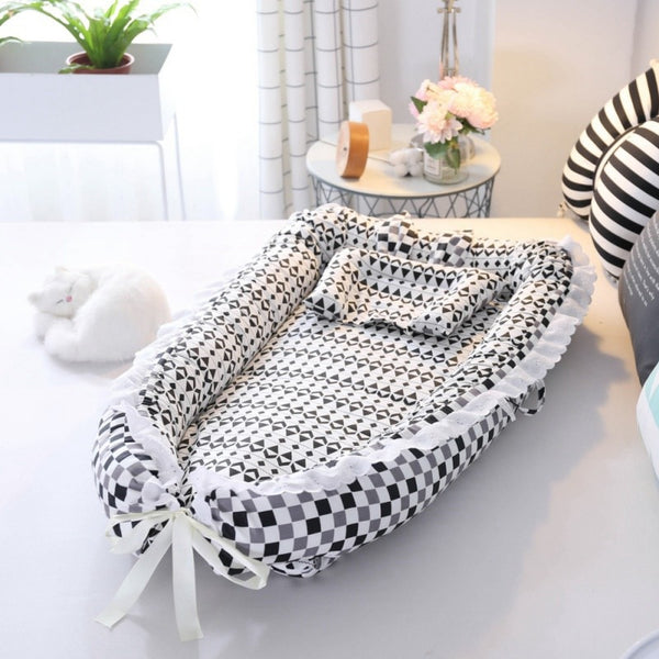 2019 New Baby for Lounger for Bassinet and Baby Portable Crib Breathable Care Bed Newborn Nest Sleep with Pillow Baby
