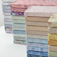 11pcs 25x25cm floral Series Bundle Sewing Plain Pure Cotton Fabric, DIY Baby Bedding Cover Pillow Case Cloth 110g/m