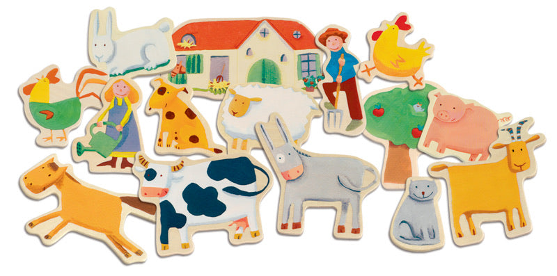Magnetic Wooden Farm Set