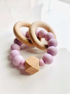 Rattle Hex & Silicone Teething Rings