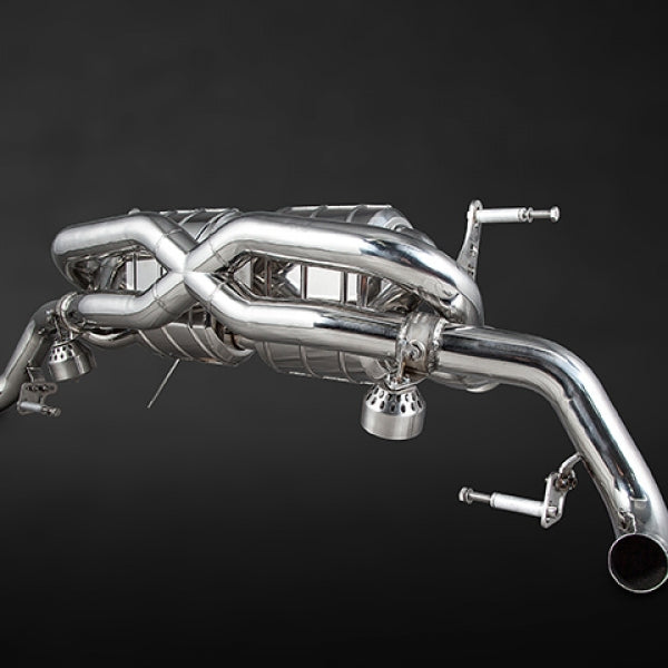 Audi R8 Post-Facelift V8 X-Pipe Exhaust System (Incl. Remote)