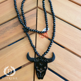 Collier tête buffle