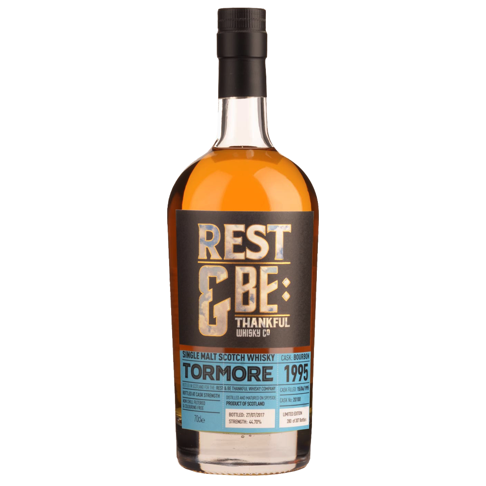 Rest & Be Thankful Tormore 1995 - 22 Years Old - Bourbon Cask