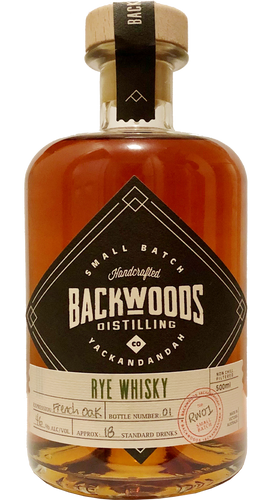 18 - Backwoods Distilling Co - French Oak Rye Whisky 1st Release