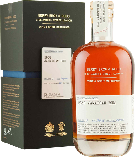 Berrys' Exceptional Cask Jamaican Rum 1982 - 33 Years Old