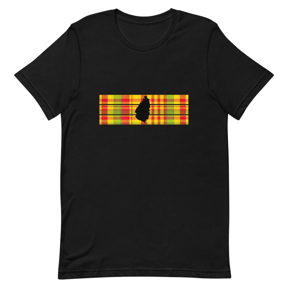 St. Lucia Madras T-shirt [Black/White]