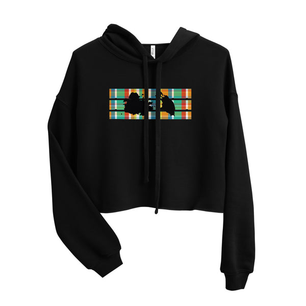 Antigua Madras Crop Hoodie [Black]