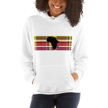 Load image into Gallery viewer, Africa Madras Hoodie [Black/White]