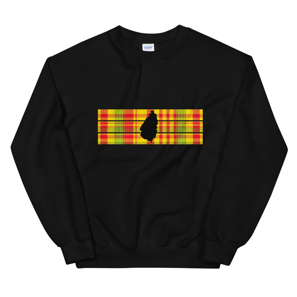 St. Lucia Madras Sweatshirt [Black/White]