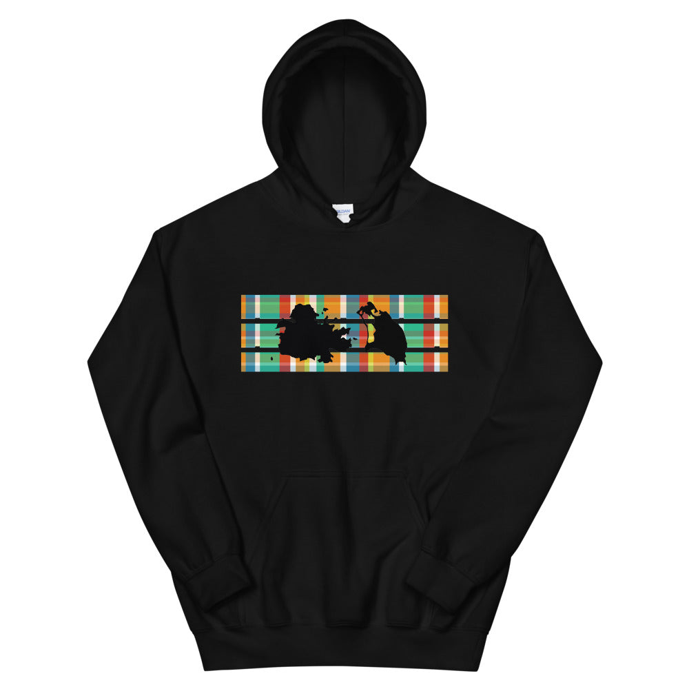 Antigua Madras Hoodie [Black/White]