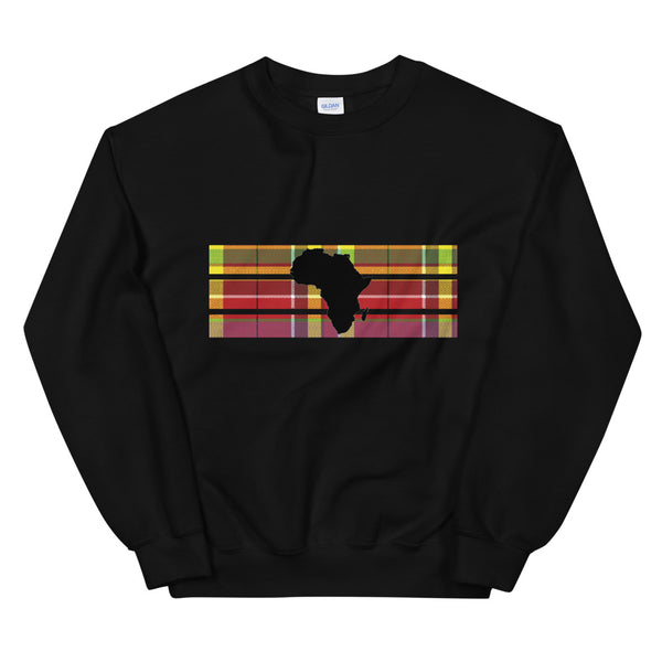 Africa Madras Sweatshirt [Black/White]