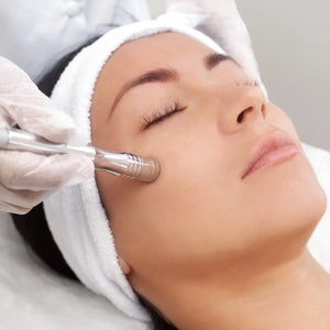 Deep cleansing microhydrabrasion skin resurfacing