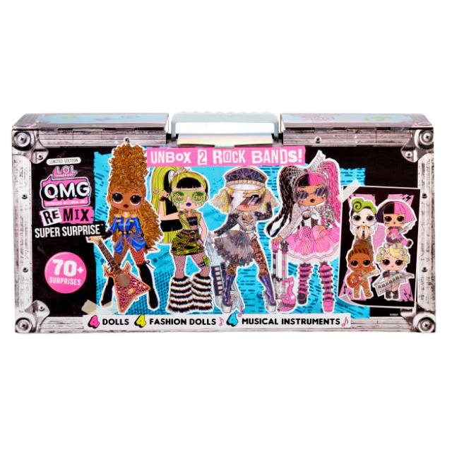 L.O.L. Surprise! O.M.G. Remix Super Surprise – 70+ Surprises, 4 Fashion Dolls & 4 Dolls