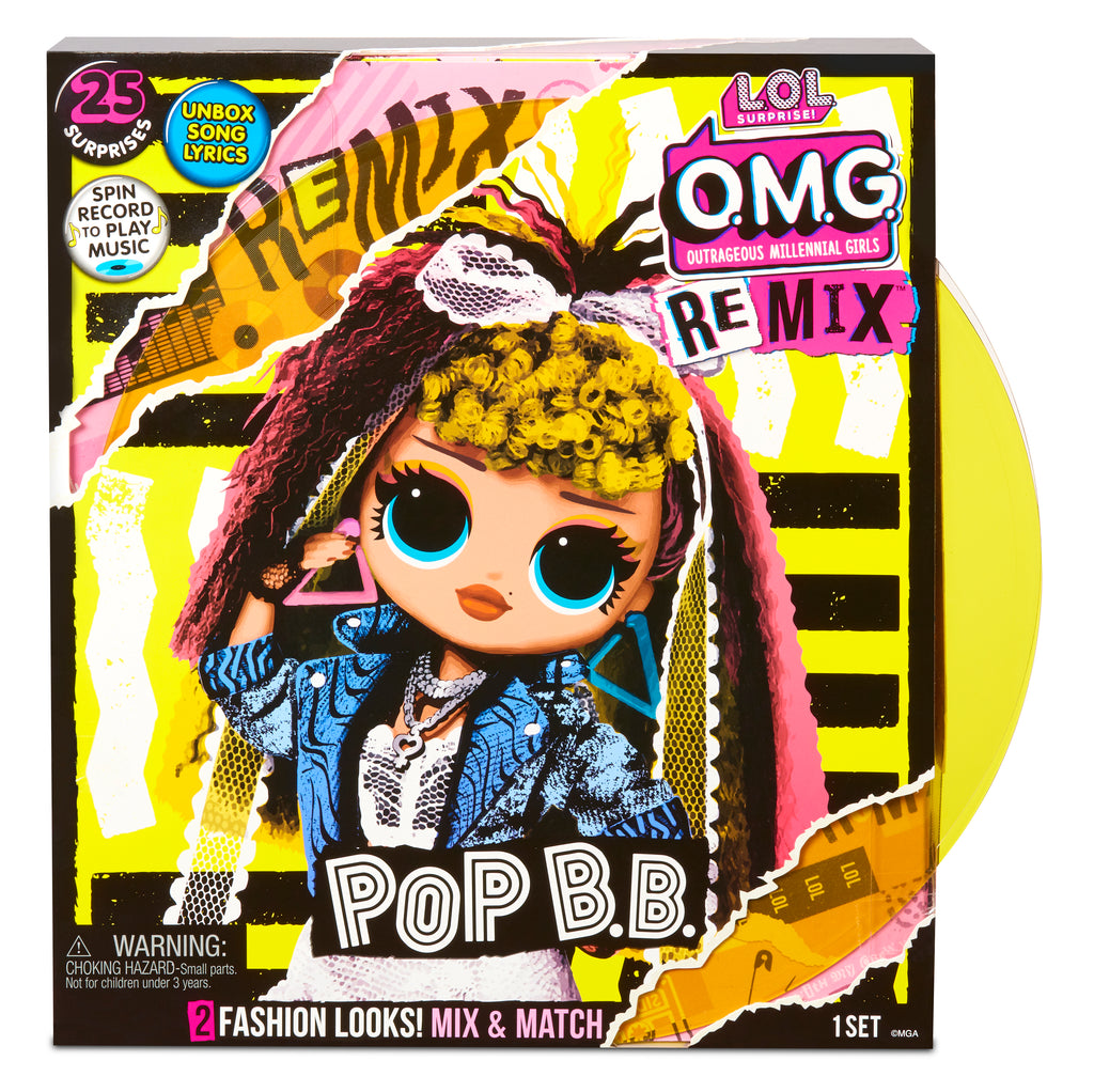 L.O.L. Surprise! O.M.G. Remix Pop B.B. Fashion Doll – 25 Surprises with Music - KidFocus