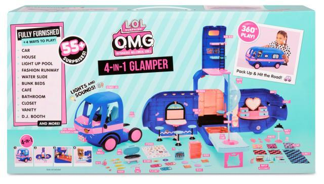 L.O.L. Surprise! O.M.G. 4-in-1 Glamper with 55+ Surprises - Electric Blue
