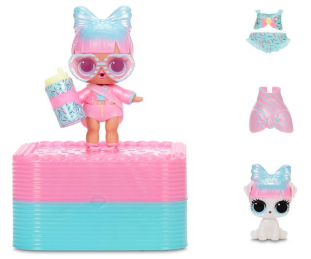 L.O.L. Surprise! Deluxe Present Surprise with Miss Partay Doll and Pet - Pink