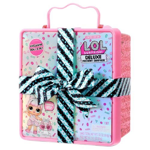 L.O.L. Surprise! Deluxe Present Surprise with Miss Partay Doll and Pet - Pink - KidFocus