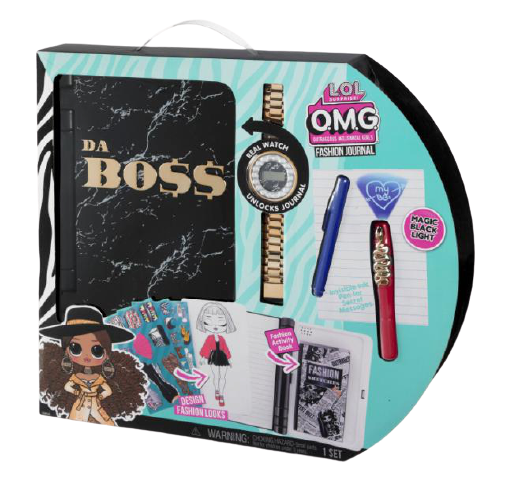 L.O.L. Surprise! O.M.G. Fashion Secret Journal Electronic Password Journal with Watch