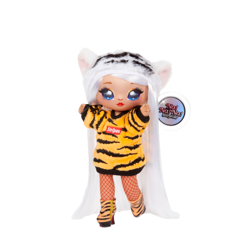 Na! Na! Na! Surprise 2-in-1 Fashion Doll and Plush Purse Series 4 – Bianca Bengal - KidFocus