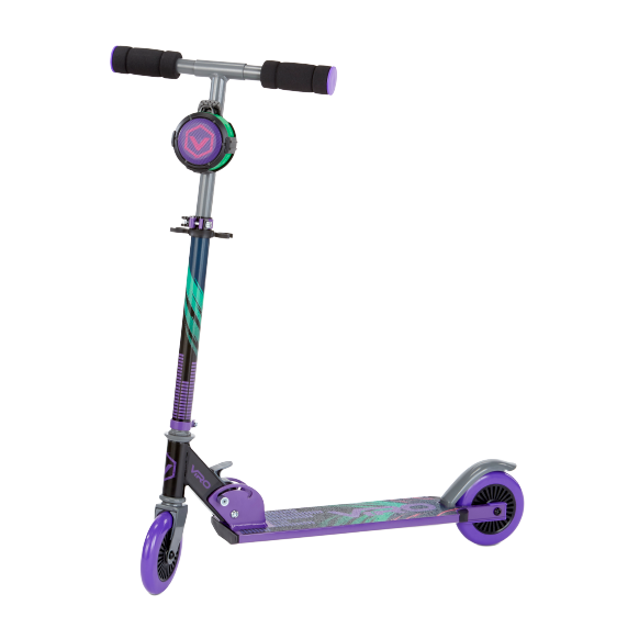 Viro Rides-VR 240 Soundtrack Kick Scooter - Purple - KidFocus