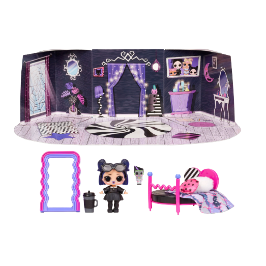 L.O.L. Surprise! Furniture Series 4 B.B. - Cozy Zone with Dusk Doll - KidFocus