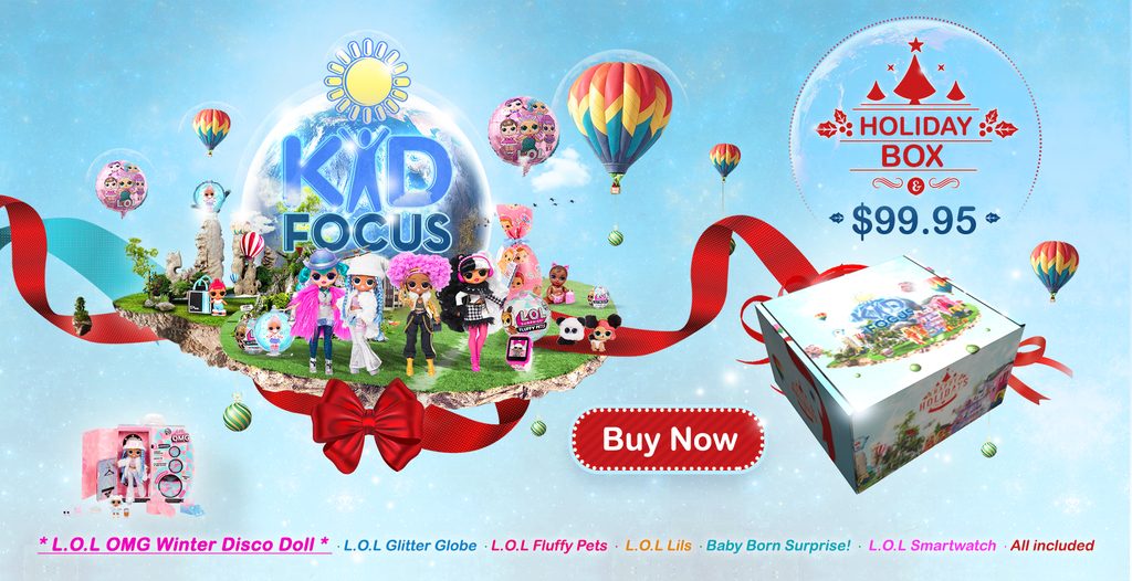 KidFocus Holiday Box 2019 (featuring L.O.L. Surprise! OMG Winter Disco)