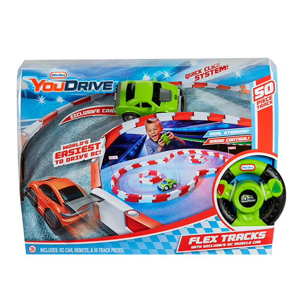 YouDrive Flex Tracks with RC Green Muscle Car