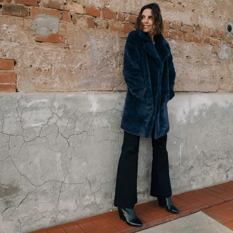 Purle-LONG-TEDDY-COAT-NAVY-Cable-Melbourne
