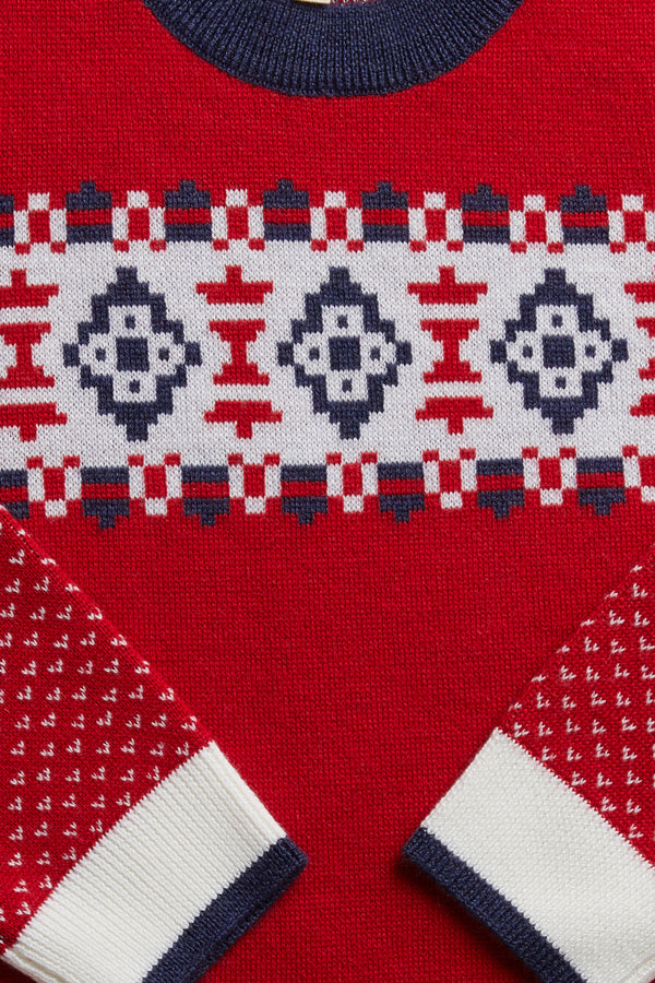 Alpine Jumper Red Detail