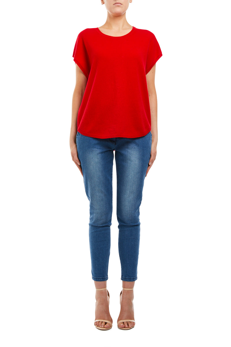 Cashmere Top Red