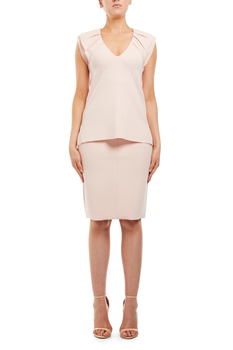 Audrey Crepe Top Blush