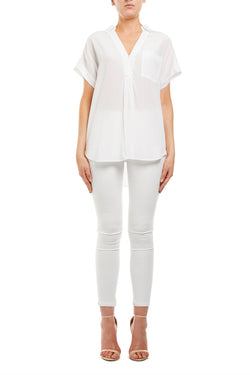 Elenore Silk Shirt White