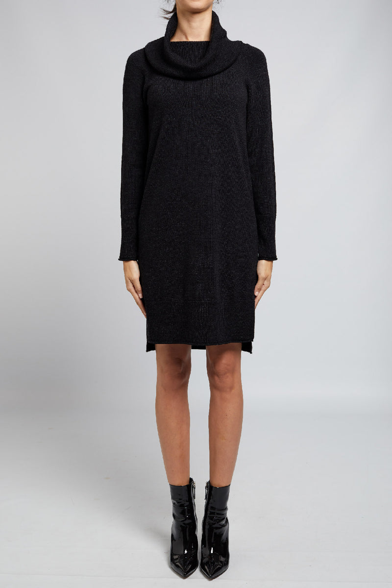Jodi Cowl Dress Black