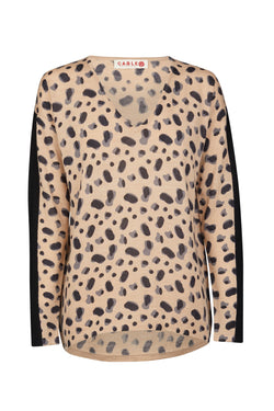 Superfine Graceland Sweater Toffee Print